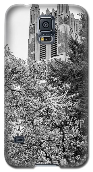 Msu Beaumont Tower Black And White 3 Galaxy S5 Case