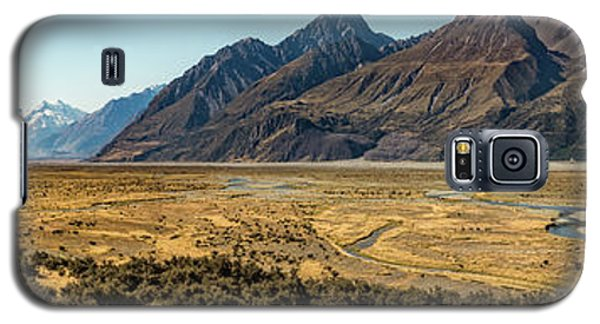 Galaxy S5 Case featuring the photograph Mt Cook And Tasman River  by Gary Eason