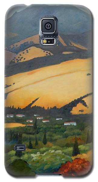 Galaxy S5 Case featuring the painting Mt. Diablo Above by Gary Coleman