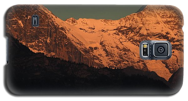 Mt. Eiger And Mt. Moench At Sunset Galaxy S5 Case by Ernst Dittmar