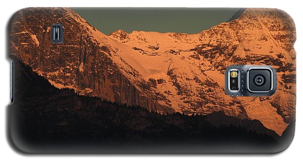Mt. Eiger And Mt. Moench At Sunset Galaxy S5 Case