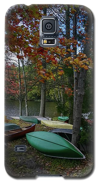 Mt. Gretna Canoes In Fall Galaxy S5 Case