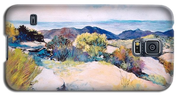 Galaxy S5 Case featuring the painting Mt Lemmon View by M Diane Bonaparte