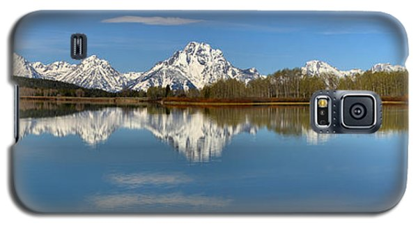 Mt. Moran Reflections At Oxbow Galaxy S5 Case by Adam Jewell