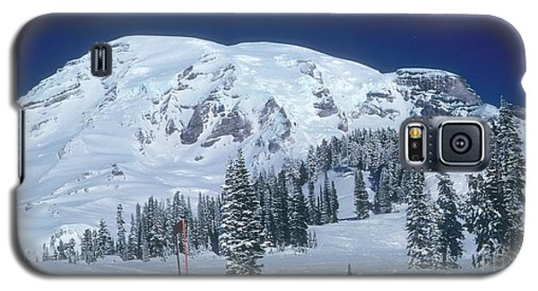 Galaxy S5 Case featuring the photograph Mt. Rainier by Larry Keahey