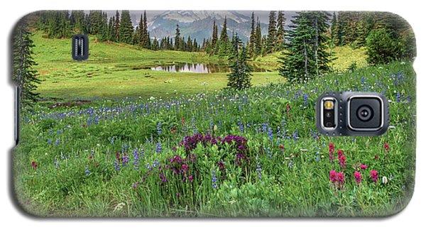 Mt Rainier Meadow Flowers Galaxy S5 Case