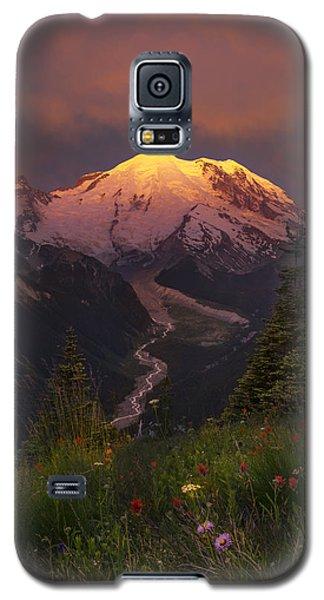 Mt. Rainier Sunrise Galaxy S5 Case