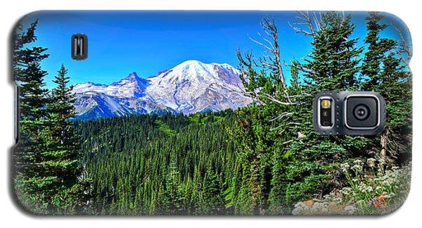 Mt. Rainier Wildflowers Galaxy S5 Case