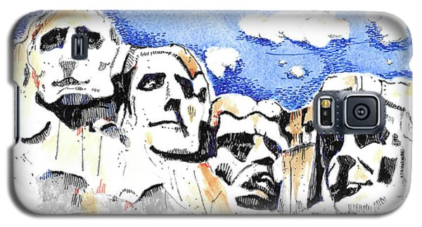 Galaxy S5 Case featuring the painting Mt. Rushmore, Usa by Terry Banderas