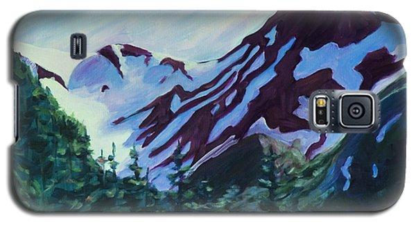 Galaxy S5 Case featuring the painting Mt.roberts Juneau Alaska by Yulia Kazansky