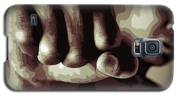 Boxing Muhammad Ali Galaxy S5 Case - Muhammad Ali Fist Poster by Dan Sproul