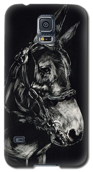 Mule Polly In Black And White Galaxy S5 Case