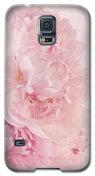 Artsy Pink Peonies Galaxy S5 Case by Sandra Foster