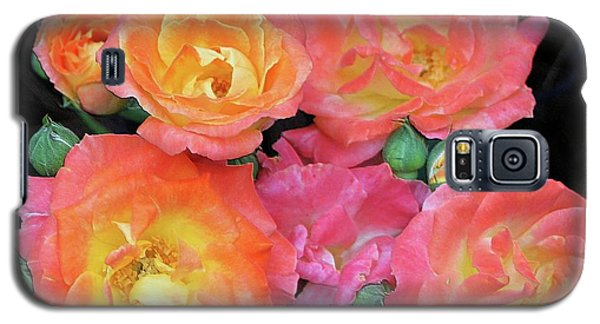 Galaxy S5 Case featuring the photograph Multi-color Roses by Jerry Battle