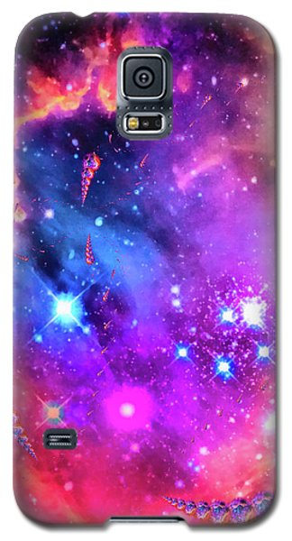 Multi Colored Space Chaos Galaxy S5 Case by Matthias Hauser