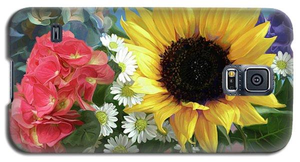 Daisy Galaxy S5 Case - Multicolor Flowers by Lucie Bilodeau
