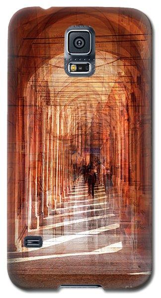 multiple exposure of  street arcade, Italy  Galaxy S5 Case