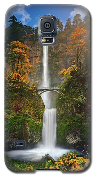 Multnomah Falls In Autumn Colors -panorama Galaxy S5 Case