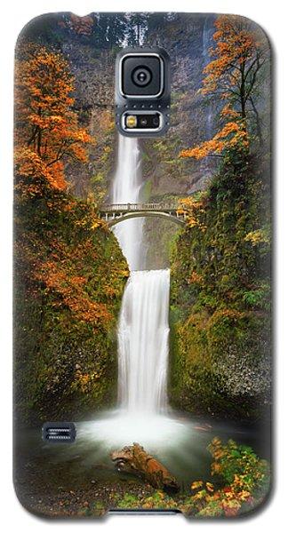 Multnomah Falls In Autumn Colors Galaxy S5 Case