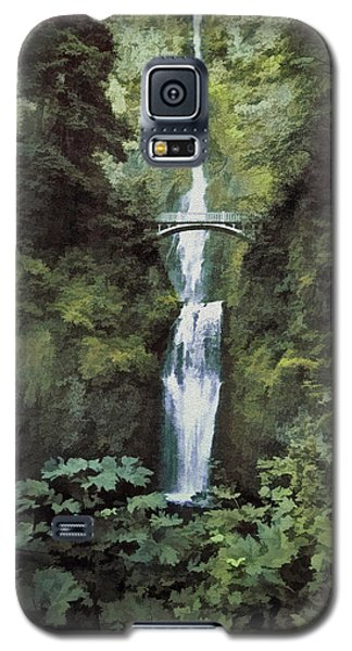 Galaxy S5 Case featuring the photograph Multnomah Falls Painterly by Diane Schuster