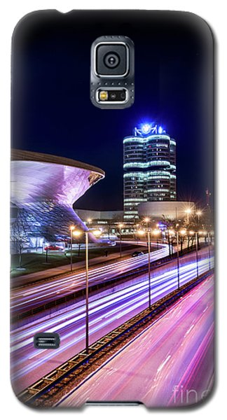 Galaxy S5 Case featuring the pyrography Munich - Bmw City At Night by Hannes Cmarits