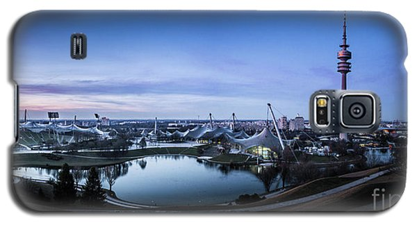 Galaxy S5 Case featuring the photograph Munich - Watching The Sunset At The Olympiapark by Hannes Cmarits