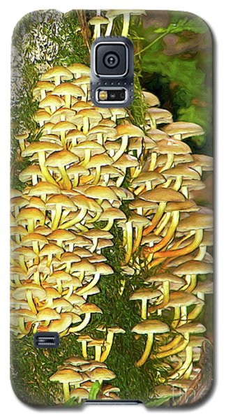 Galaxy S5 Case featuring the photograph Mushroom Colony Photo Art by Sharon Talson