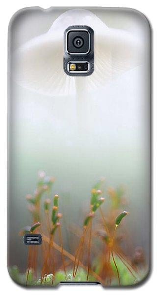 Galaxy S5 Case featuring the photograph Mushroom Dreams, Mycena Galericulata by Dirk Ercken