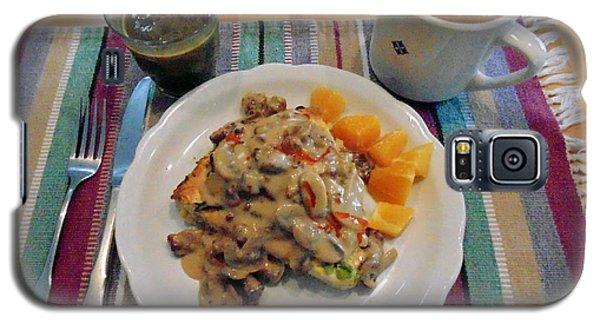 Galaxy S5 Case featuring the digital art Mushroom Gravy Over Breakfast Quiche  by Jana Russon