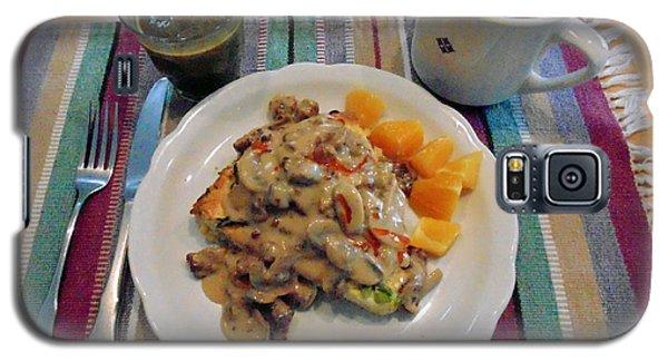 Mushroom Gravy Over Breakfast Quiche  Galaxy S5 Case