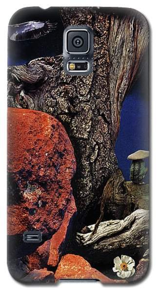 Galaxy S5 Case featuring the painting Mushroom People - Collage by Linda Apple