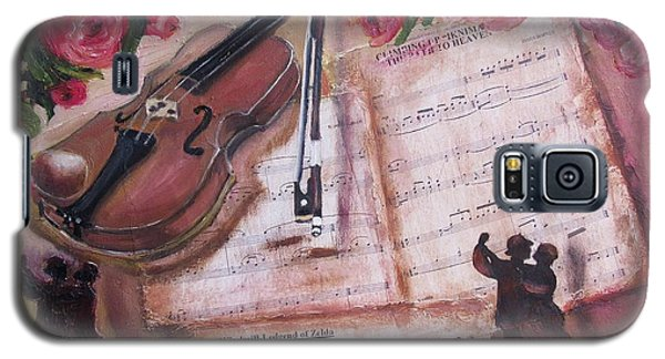 Music And Roses Galaxy S5 Case
