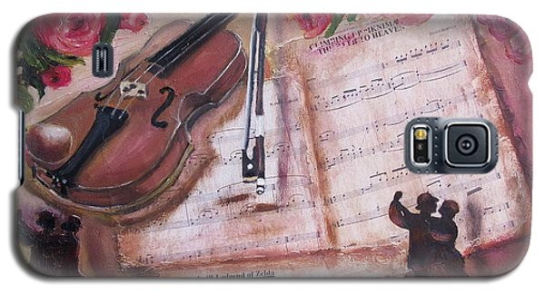 Music And Roses Galaxy S5 Case by Vesna Martinjak