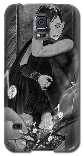 Music Is Magic - Black And White Fantasy Art Galaxy S5 Case