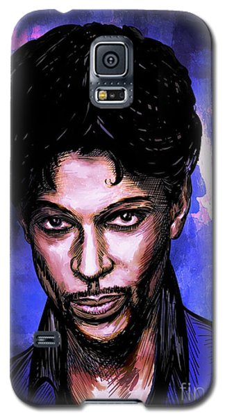 Galaxy S5 Case featuring the painting Music Legend  Prince by Andrzej Szczerski
