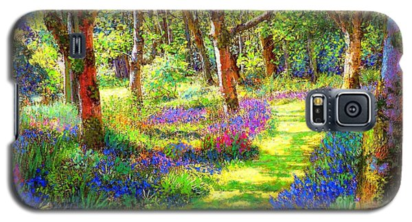 Galaxy S5 Case featuring the painting Music Of Light, Bluebell Woods by Jane Small