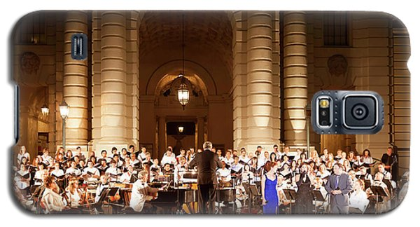 Galaxy S5 Case featuring the photograph Music Under The Stars - Symphony At Pasadena City Hall California by Ram Vasudev