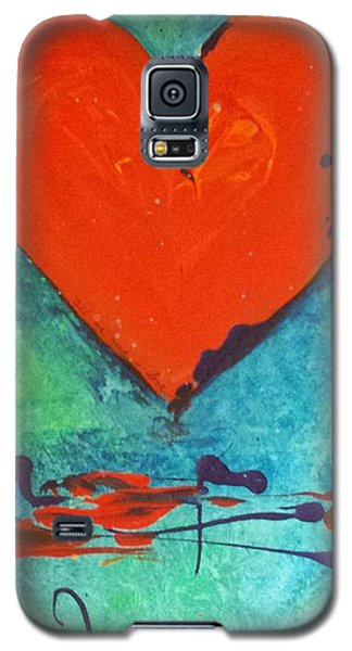 Galaxy S5 Case featuring the painting Musical Heart by Diana Bursztein