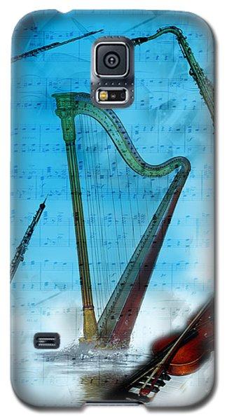 Galaxy S5 Case featuring the digital art Musical Instruments by Angel Jesus De la Fuente