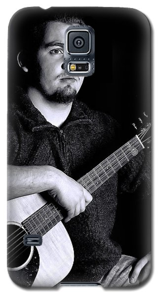 Musician Playing Guitar Portrait Galaxy S5 Case
