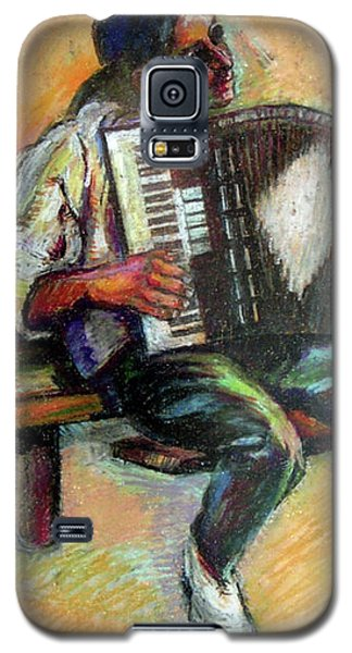 Musician With Accordion Galaxy S5 Case by Stan Esson