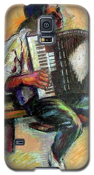 Musician With Accordion Galaxy S5 Case