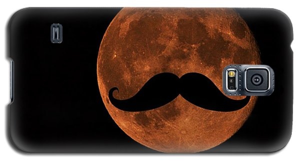 Galaxy S5 Case featuring the photograph Mustache Moon by Marianna Mills