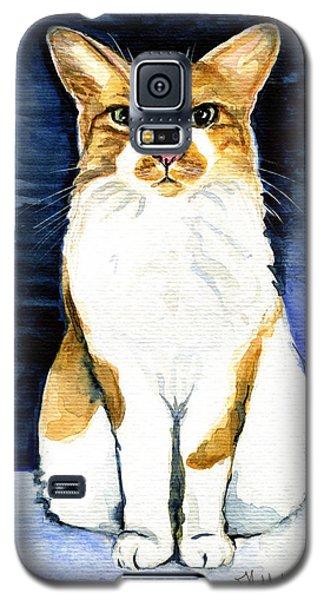 Mustached Bicolor Beauty - Cat Portrait Galaxy S5 Case