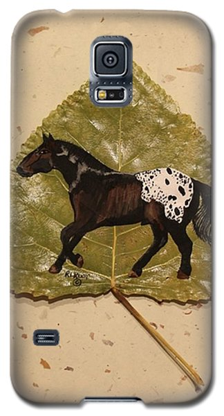 Mustang Appaloosa On Poplar Leaf Galaxy S5 Case