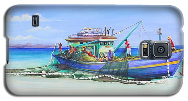 Galaxy S5 Case featuring the painting Mv Alice Mary by Patricia Piffath