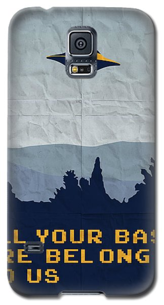My All Your Base Are Belong To Us Meets X-files I Want To Believe Poster  Galaxy S5 Case by Chungkong Art
