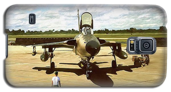 Galaxy S5 Case featuring the digital art My Baby F-105 by Peter Chilelli