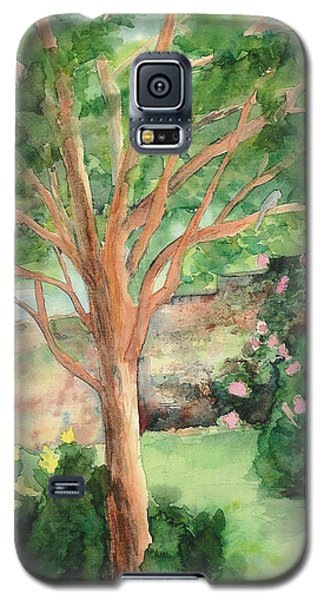Galaxy S5 Case featuring the painting My Backyard by Vicki  Housel