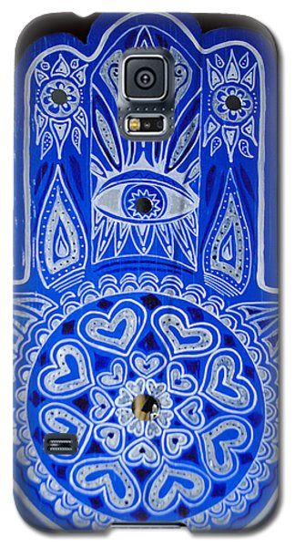 My Blue Hamsa Galaxy S5 Case